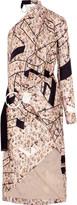 Preen by Thornton Bregazzi Zaha one-shoulder printed silk-twill dress