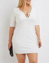 Charlotte Russe Plus Size Strappy Bodycon Dress
