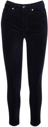 Seven London Seven7 High Waist Skinny Velvet Ankle Pants