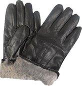 Bon Bonito Top Quality Men's Rabbit Fur Lined Genuine Soft Leather Gloves