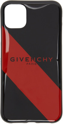 Givenchy Black and Red Striped Logo iPhone 11 Case