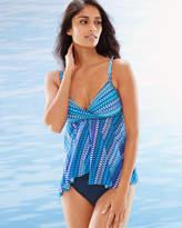 Soma Intimates Blue Lagoon Flyaway Tankini Swim Top