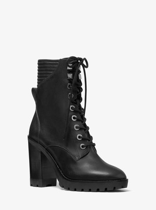 MICHAEL Michael Kors Bastian Leather Combat Boot