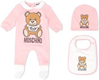 MOSCHINO BAMBINO Teddy logo-print pajama set
