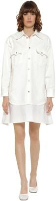 MM6 MAISON MARGIELA Cotton Denim Shirt Dress