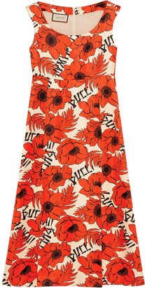 Gucci Poppy Print Dress