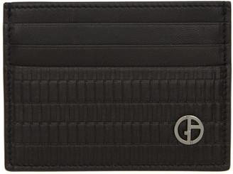 Giorgio Armani Black Leather Card Holder
