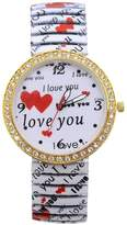 Pappi Boss Geneva Unique Valentine Special Gift I LOVE YOU Stretchable Band Analog Wrist Watch for Women, Girls