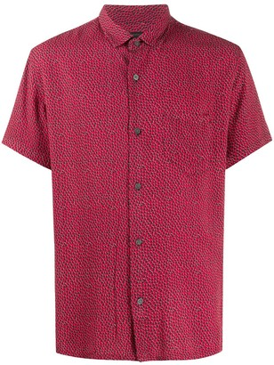 John Varvatos Abstract-Dot Short Sleeved Shirt