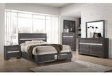 Logan Myco Furniture Queen Storage Platform Bed MYCO Furniture Color: White