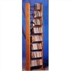 Christian Dior Rebrilliant 208 Backless Dowel Multimedia Storage Rack Rebrilliant Color: Dark
