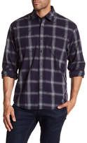 James Campbell Chuy Windowpane Regular Fit Shirt
