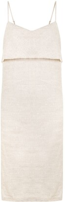 Venroy Draped-Neck Midi Dress