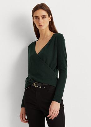 Ralph Lauren Washable Cashmere Wrap Sweater