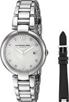 Raymond Weil Women's 'Shine' Swiss Quartz Stainless Steel Watch, Color:-Toned (Model: 1600-ST-00995)