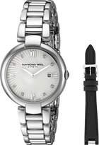 Raymond Weil Women's 'Shine' Swiss Quartz Stainless Steel Watch, Color:-Toned (Model: 1600-ST-00995)