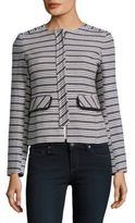 Helene Berman Striped Boucle Jacket