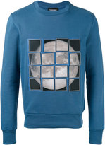 Christopher Raeburn stick-on moon patch sweatshirt - men - Cotton/Polyamide - XS