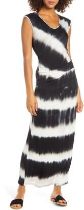 Fraiche by J Tie Dye Cinched Maxi Dress