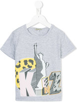 Kenzo Statue of Liberty T-shirt - kids - Cotton/Spandex/Elastane - 4 yrs