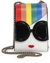 Alice + Olivia Rainbow-Print Stace Face Phone Chain Crossbody Bag