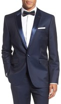 Ted Baker Pashion Trim Fit Wool & Mohair Dinner Jacket