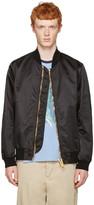 Palm Angels Black Maxi Puller Bomber Jacket