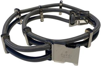 Gucci Grey Cloth Belts