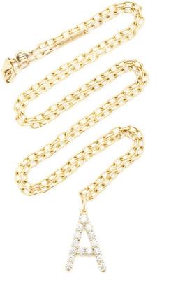 Briony Raymond 18K Yellow Gold and Diamond Confetti Letter Pendant