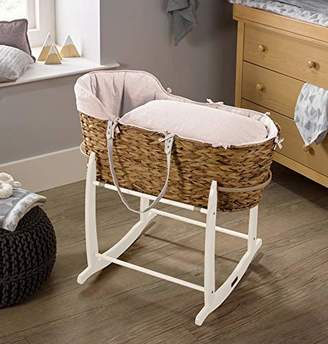 Clair De Lune Cotton Dream Hyacinth Moses Basket - Grey