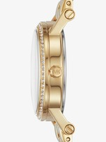 Michael Kors Petite Norie Pave Gold-Tone Watch