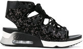 Ash trainer-style sequin sandals - women - Leather/Polyester/rubber - 36