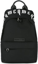 McQ by Alexander McQueen logo print backpack - men - Cotton/Leather - One Size