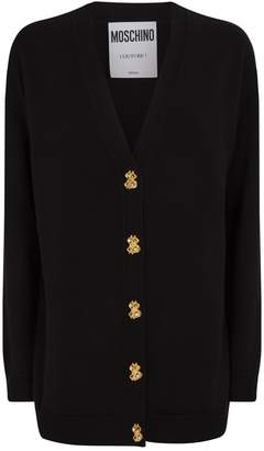 Moschino Wool Dollar-Buttons Cardigan