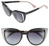 Fendi Women's 51Mm Cat Eye Sunglasses - Blue