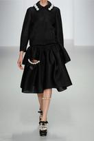 Simone Rocha Faux pearl-embellished scuba-mesh jacket