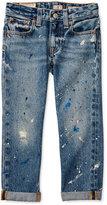 Ralph Lauren Paint-Splatter Jeans, Toddler Girls (2T-4T) & Little Girls (2-6X)