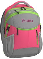 Pottery Barn Kids Backpack, Colton Bright Pink/Lime Trim