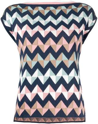 M Missoni knitted zigzag top