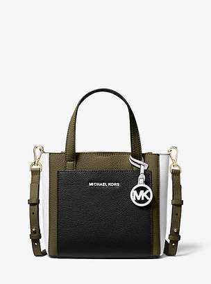 Michael Kors Gemma Small Tri-Color Pebbled Leather Crossbody Bag