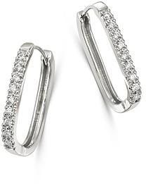 Bloomingdale's Diamond Square Hoop Earrings in 14K White Gold - 100% Exclusive