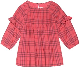 BURBERRY KIDS Baby Checked cotton dress