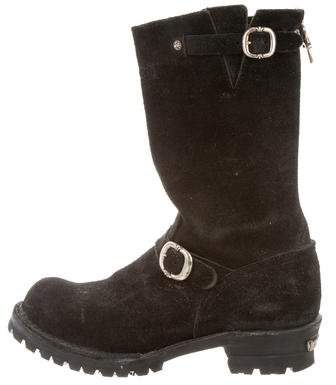 Chrome Hearts Suede Riding Boots
