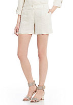 Jones New York Washed Linen-Blend Cuffed Hem Shorts