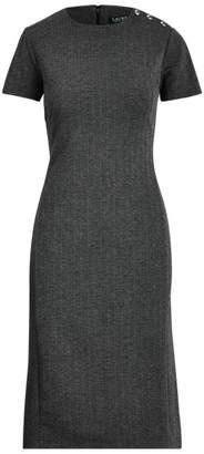 Ralph Lauren Shoulder-Button Knit Dress