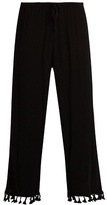 Velvet by Graham & Spencer Nevia tassel-trimmed cropped trousers