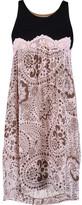 Chloé Crepe-paneled printed plissé-gauze dress