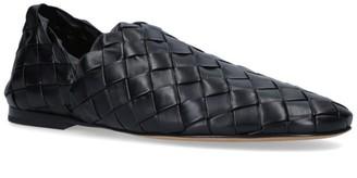 Bottega Veneta Leather Intrecciato Loafers