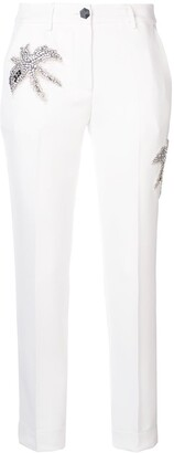 Philipp Plein Embellished Patch Trousers