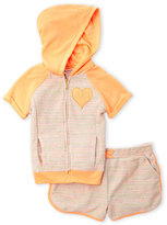 Juicy Couture Girls 7-16) Two-Piece Rainbow Terry Hoodie & Shorts Set
